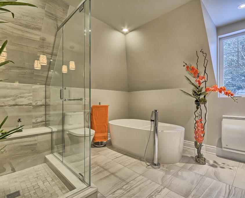 Salle de bain chic et zen - Créa-Nova
